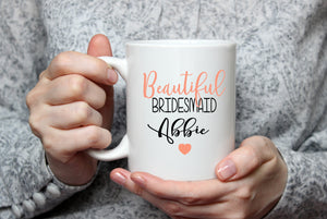 Personalised Beautiful Wedding  Mug