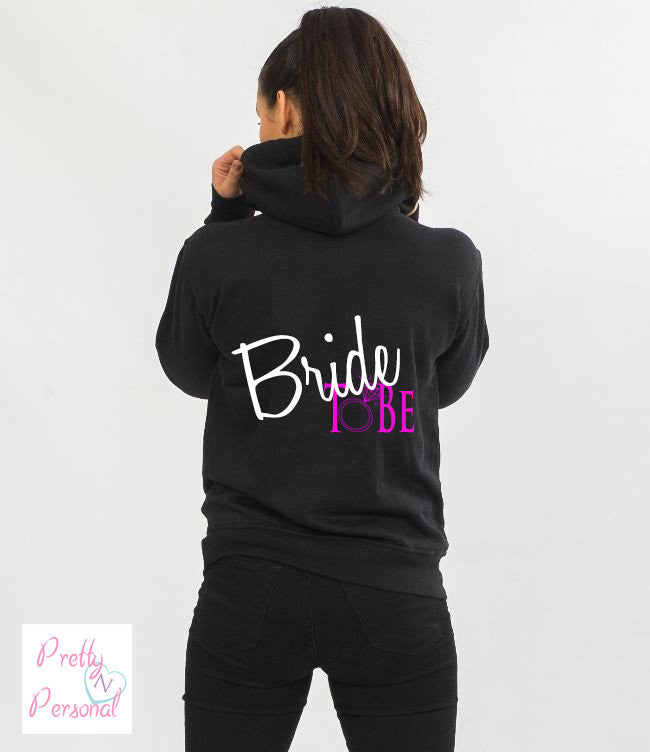 Bride To Be Black Hoodie