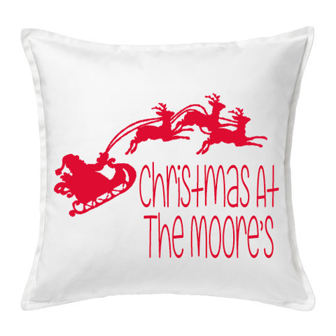 Christmas Sleigh Cushion