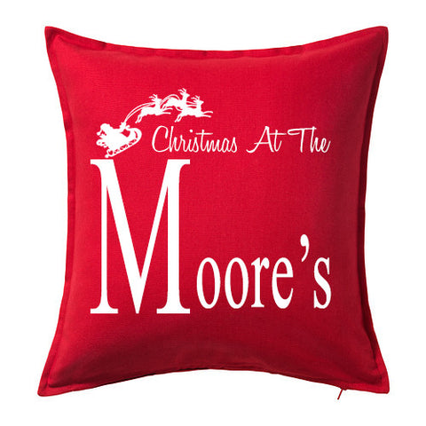 Christmas Name Cushion