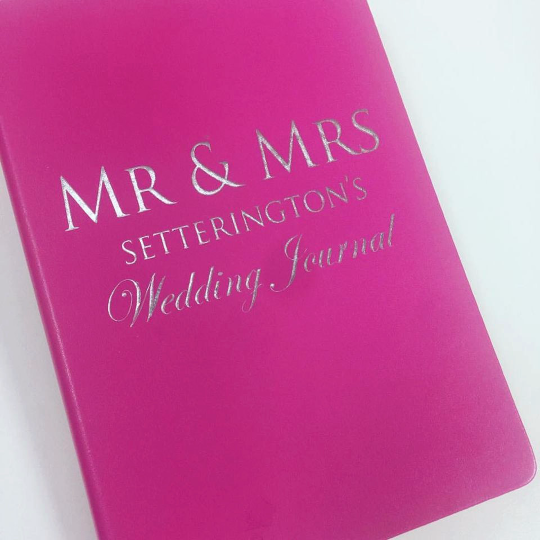 Personalised Wedding Journal