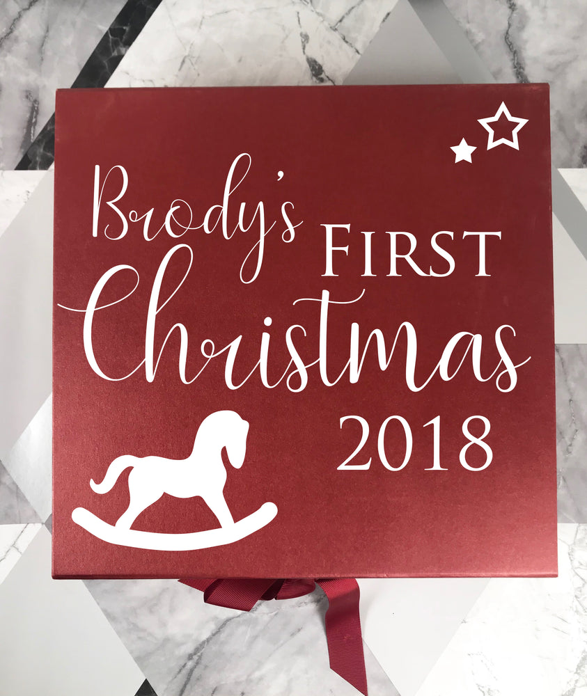 First Christmas Personalised Box