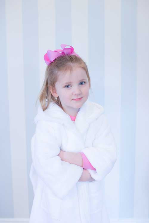 Girls Personalised Princess Crown Dressing Gown