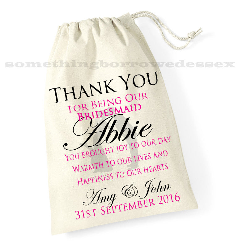 Thank You Gift Bag - Bridesmaid, Flower Girl