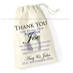 Thank You Gift Bag - Best Man, Page Boy, Usher