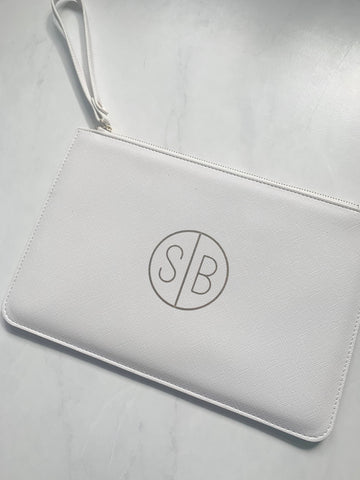 Monogrammed Disc Boutique Clutch Bag