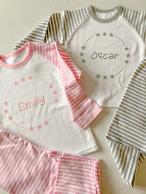 Childrens Personalised Star Pyjamas