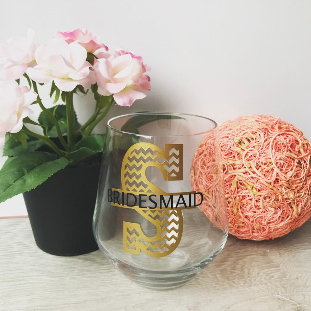 Monogram Stemless Wine Glass