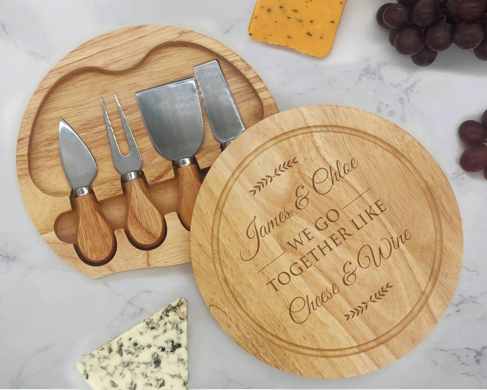 We go Together Engraved Cheeseboard