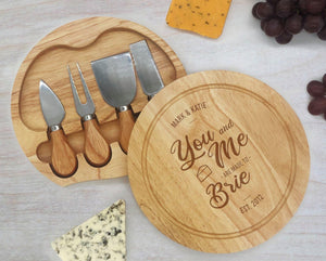 You, Me and Brie Engraved Cheeseboard