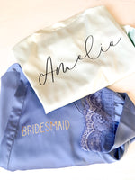 Mia Satin Lace Personalised Robe