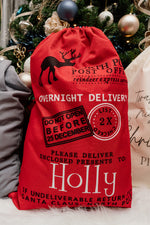 Personalised Red Christmas Sack