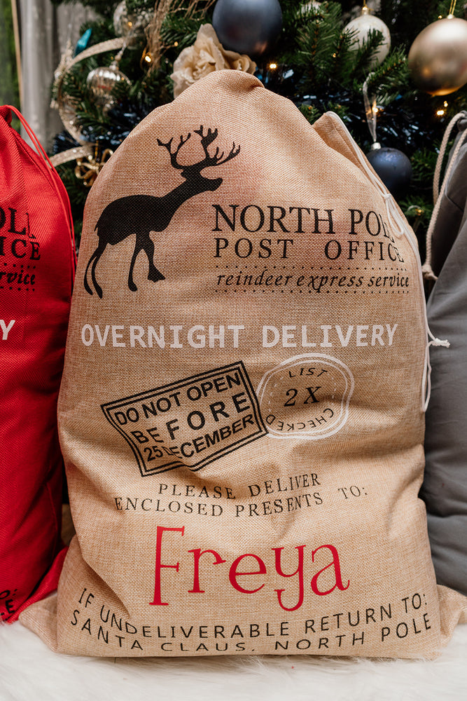 Personalised Delivery Christmas Sack