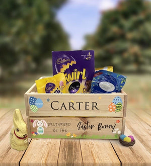 Personalised Wooden Easter Crate - Design 11
