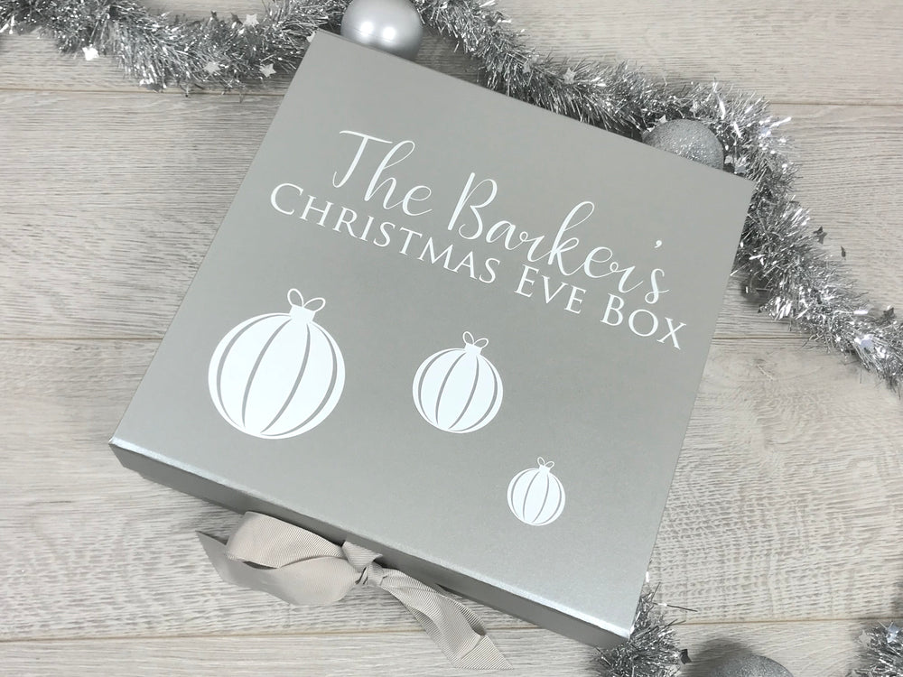 Personalised Bauble Christmas Box