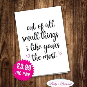 Valentines Card - All The Small Things