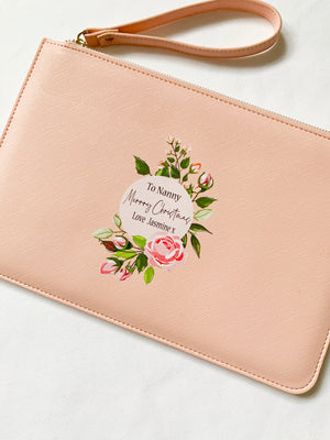 Floral Special Message Boutique Clutch