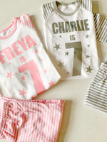 Childrens Personalised Birthday Number Pyjamas