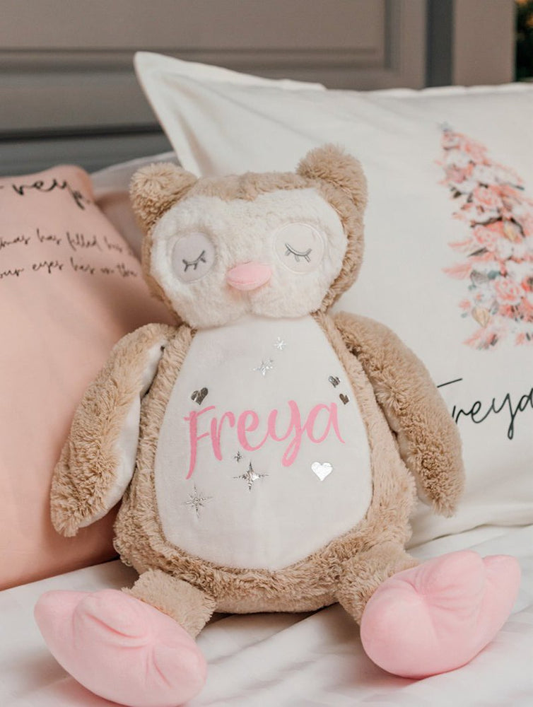Personalised Cuddly Soft Owl