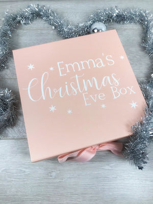 Personalised Pink Christmas Box