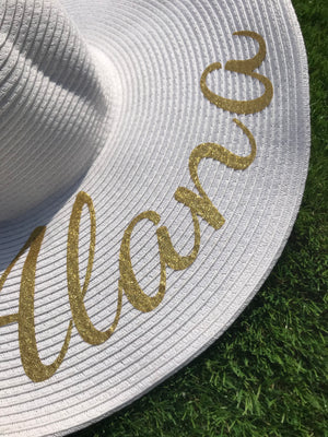 Large Personalised Sun Hat - All colours