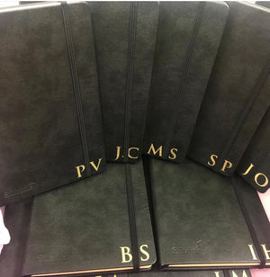 Monogram Personalised Journal - Black