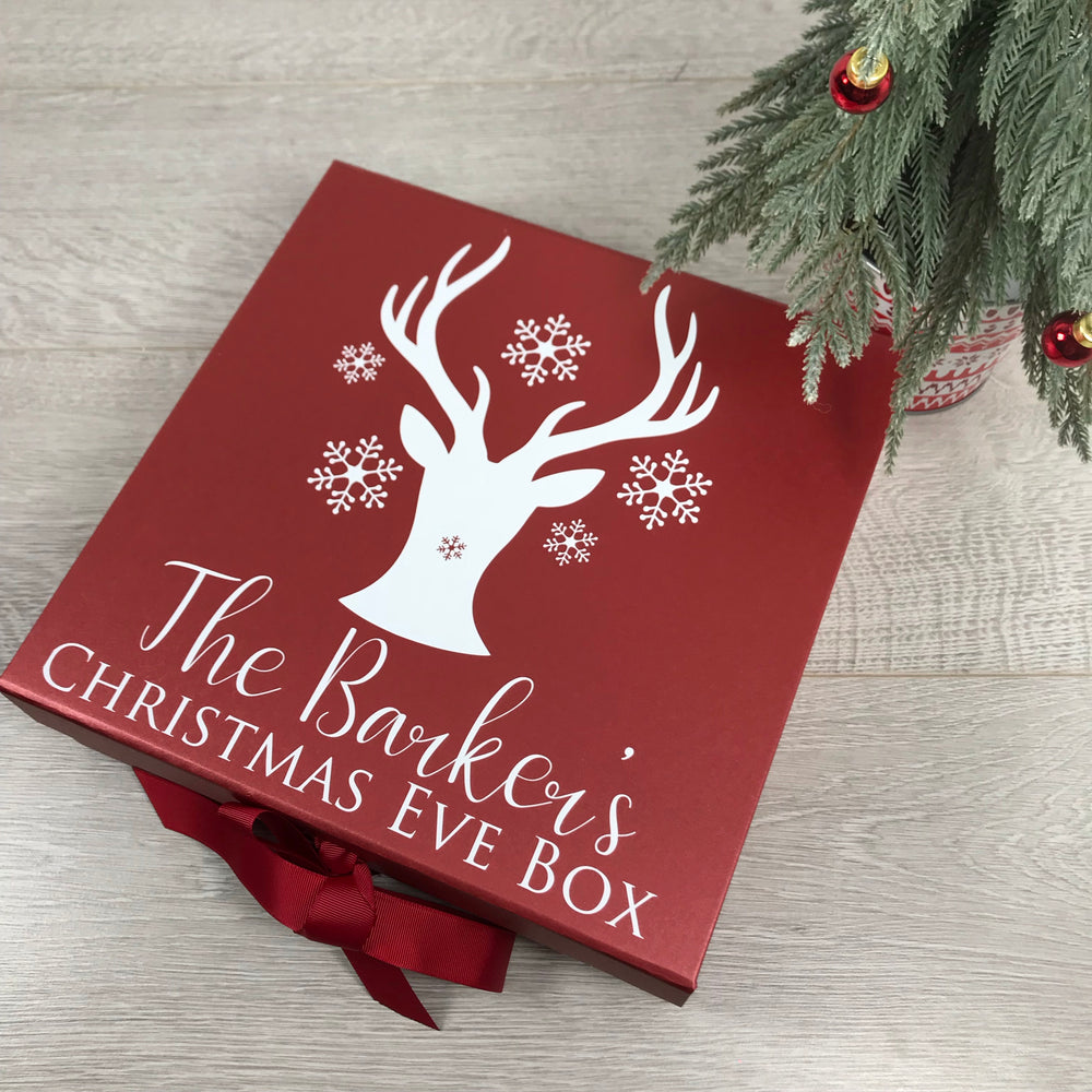 Personalised Stag Head Christmas Box
