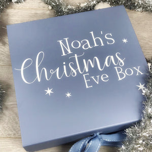 Personalised Blue Christmas Box