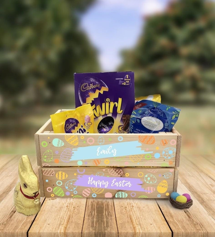 Personalised Wooden Easter Crate - Design 5