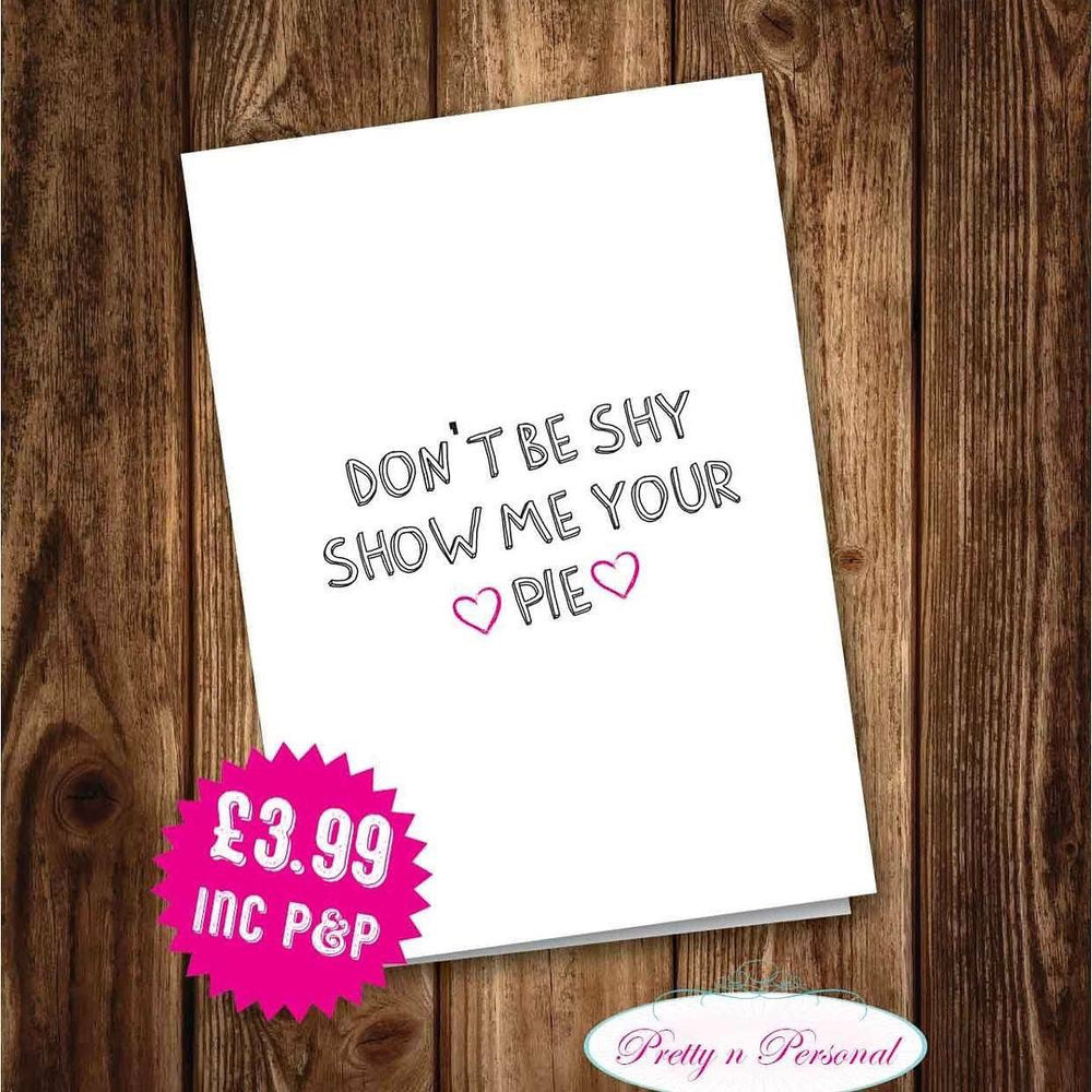 Valentines Card - Don't be Shy