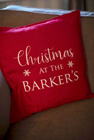 Christmas At The Personalised Cushion