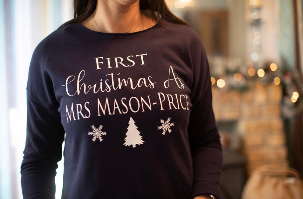 First Christmas as Mrs Lounge Sweatshirt