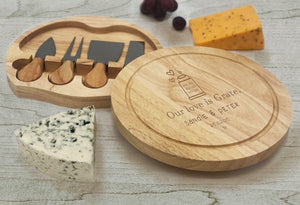 "Love is ""Grate"" Engraved Cheeseboard"