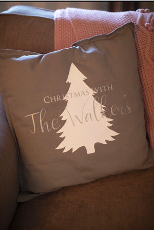 Christmas With The Personalised Cushion