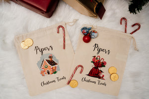 Personalised Christmas Treat Bag