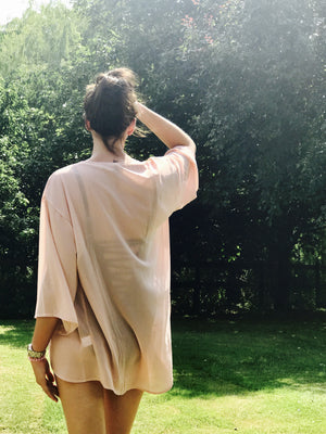 Personalised Beach Kaftan /  Cover Up - Dusty Pink
