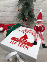 Personalised Elf Team Christmas Box
