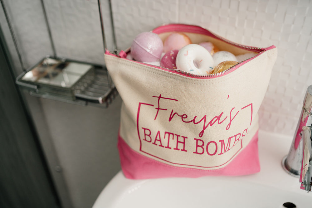 Personalised Bath Bomb Wash Bag