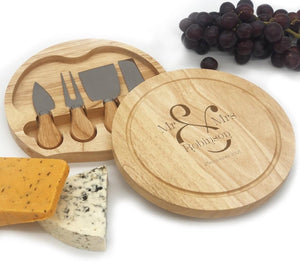 Mr and Mrs Date Engraved Cheeseboard