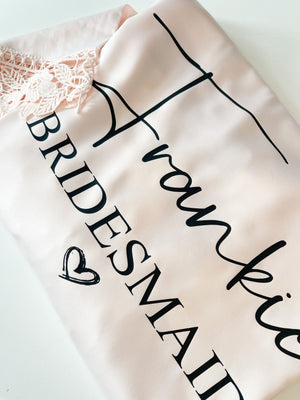 Frankie Satin Lace Personalised Robe
