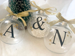 Personalised Initial Christmas Bauble
