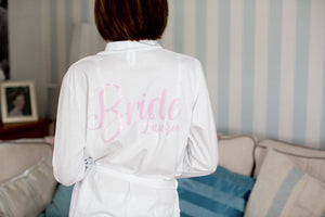 Cotton White Wedding Robe