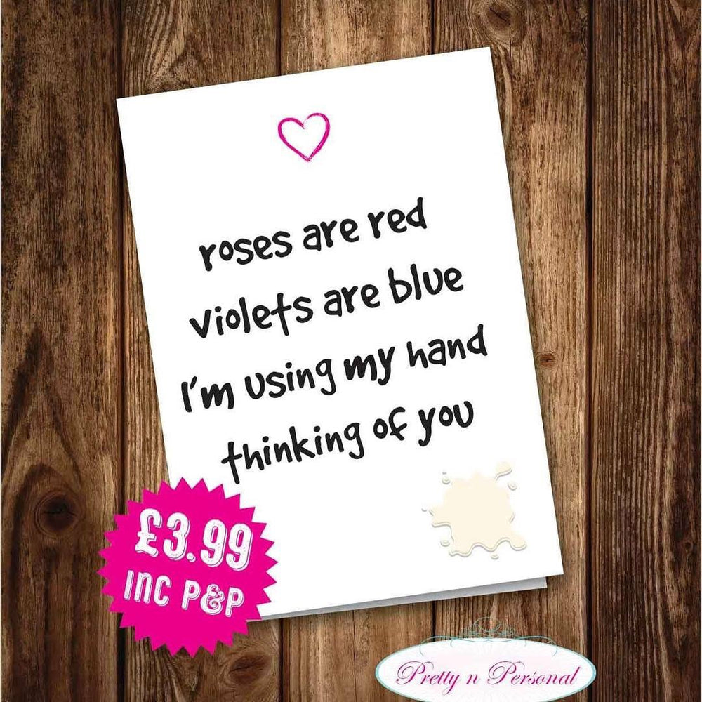 Valentines Card - Roses are Red