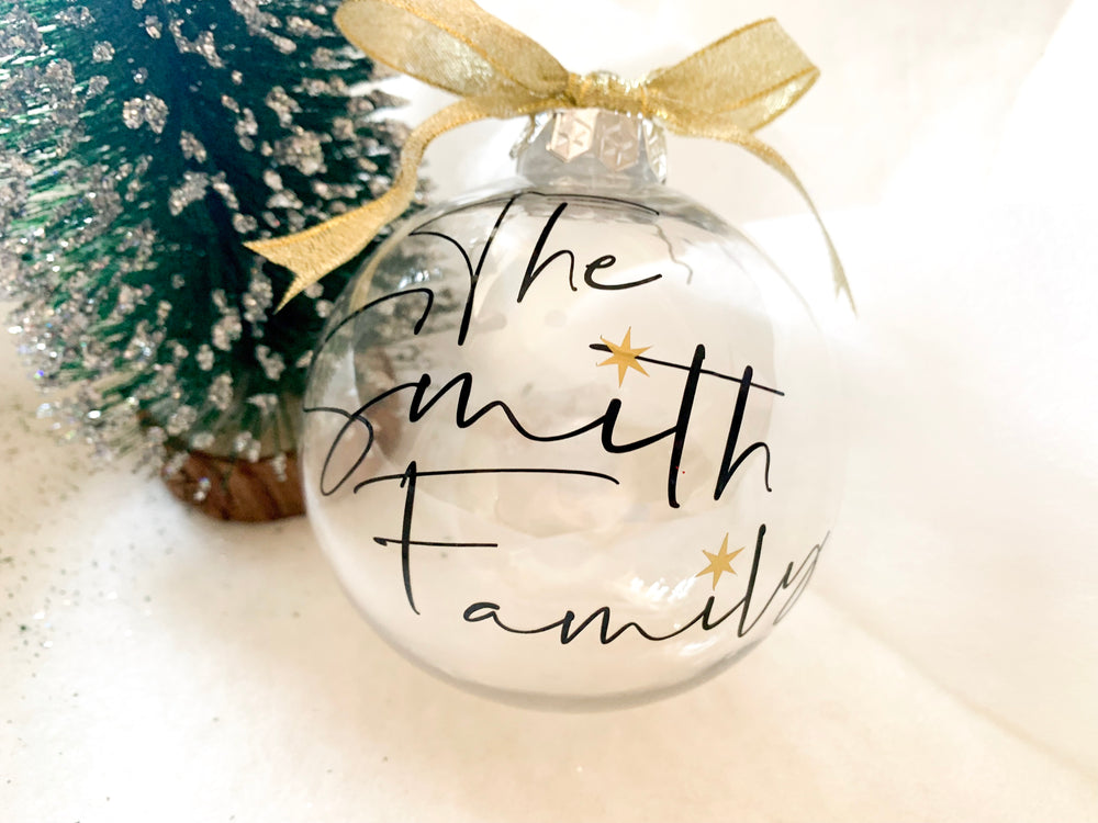 Personalised Family Christmas Bauble
