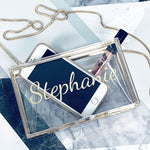 Personalised Clear Clutch Bag