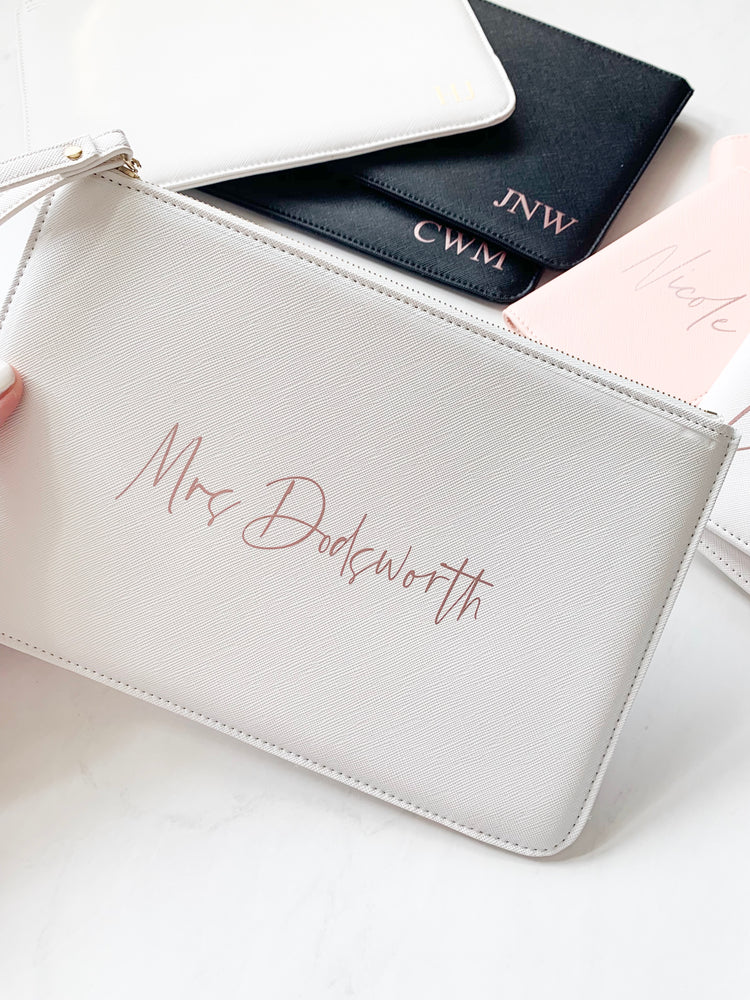 Personalised Mrs Boutique Clutch Bag