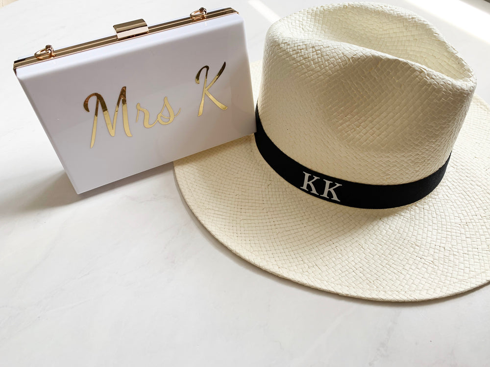 Ladies Personalised Panama Hat