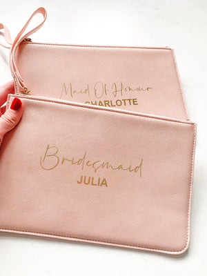 Personalised Wedding Boutique Clutch Bag