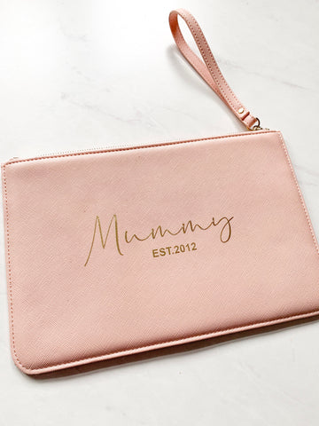 Personalised Mummy Boutique Clutch Bag