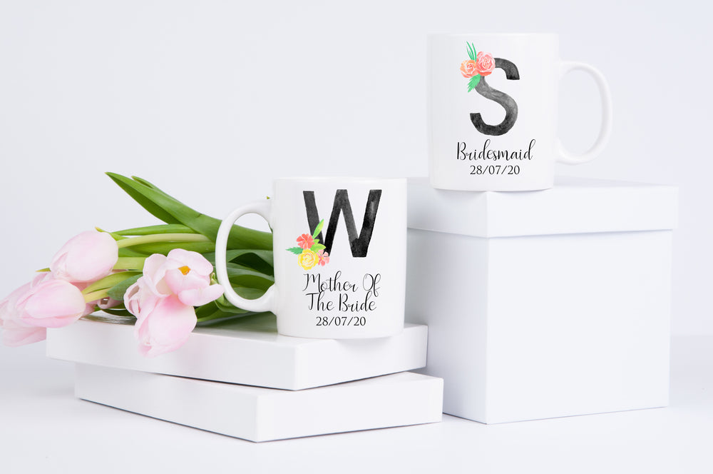 Initial Wedding Party Mug